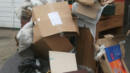 Residents were fined for dumping this pile in a Canning Town street
