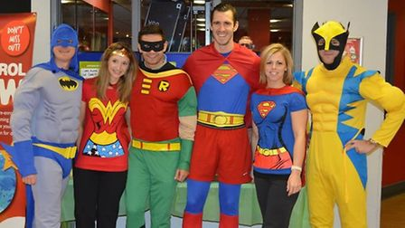 Staff members at Hornchurch Sports Centre in their outfits.
