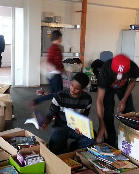 Students from Brampton Manor Academy help out at Get In day