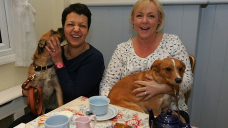 Debbie Roper and Tracey Reid opened their tea room a year ago after becoming bored with their office