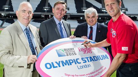 From left: Newham Council chief executive Kim Bromley-Derry; Sir Robin Wales; East London Rugby Club