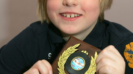 Corey Layton, age10 raised more than £100 with a sponsored swim for the NCPCC and he has been nomin