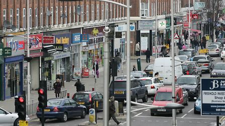 Barkingside High Street and its shops