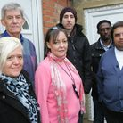 Moinul Khalique (far right) with his Re-Start team