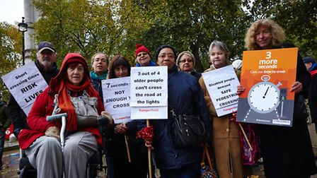 Newham Campaigners Val aNewham campaigners Val and Hazel (third and fourth from the right) went to P
