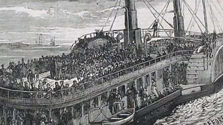 Princess Alice before the disaster. Picture courtesy of the Greenwich Heritage Centre