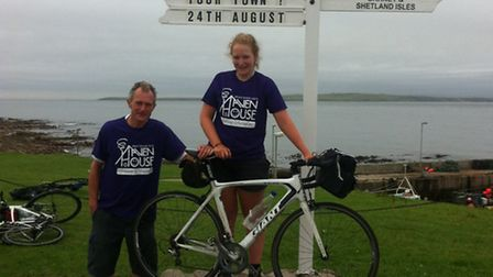 Andy and Emily cycled more than 800 miles from Cornwall to Scotland.