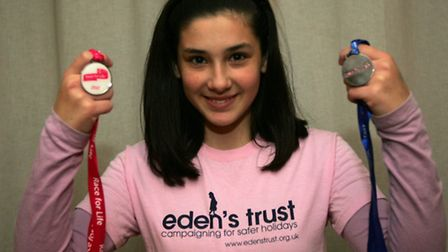 Tia Burns, 14, is being nominated for the Young Citizen Award