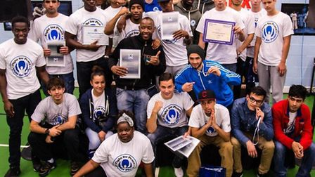 Fight for Peace Academy Members at the Annual Awards Ceremony in September