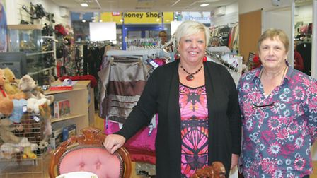 Manager Theresa McGuigan and Christine O'Rourke at the PDSA store in Ilford