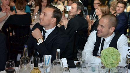 Mark Noble and Joe Cole attended the ball in Canary Wharf to help Richard House Children's Hospice