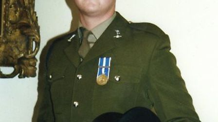 Mike Lake during his time in the British Army