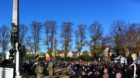 There was an excellent turnout for the service.