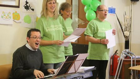 As part of Mitzvah Day - a day where people are encouraged to volunteer - Chris Carter, Maxine Lecke