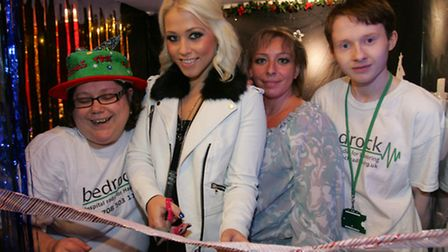 X factor's Amelia Lily opens Santa's grotto at the shopping hall