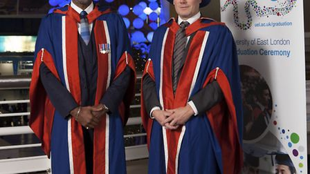 Keir Starmer QC and Leroy Logan MBE who were awarded honorary doctorates