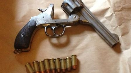The suspected firearm was seized by Trident officers at a property in Manor Park