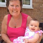 Lesley Phillips with her granddaughter Amelia