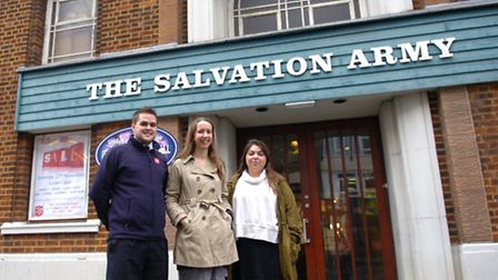 The Salvation Army, Ilford, are starting a campaignto raise money for the night shelter. L to R Jo