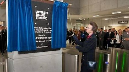 Princess Anne opens a new University campus in Stratford