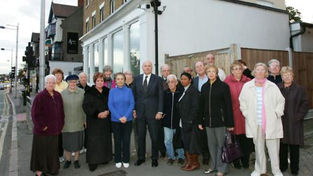 MP Iain Duncan Smith with residents outside the nightclub