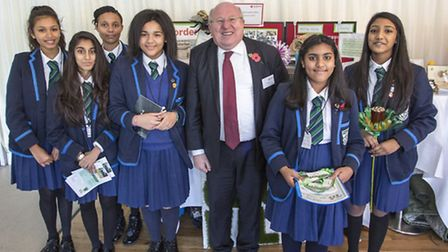 Ilford Ursuline pupils with Ilford South MP Mike Gapes on their visit to the Houses of Parliament.