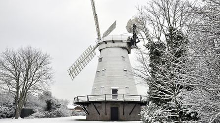 John Hercock took these stunning pictures of Upminster Windmill in the January snow.