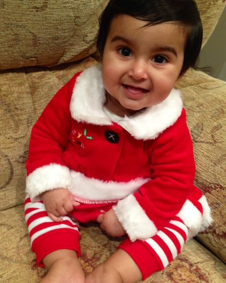 Avneet Sidhu aged seven months from Ilford