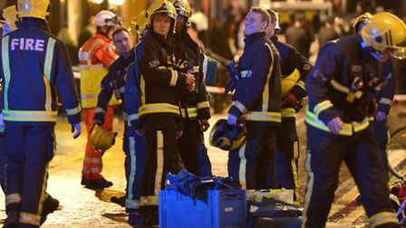 Fire crews at scene outside Apollo Theatre as a rescue operation gets under way