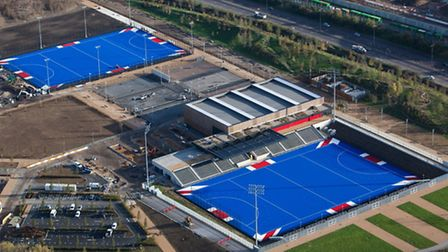 The Union Jack inspired hockey pitches