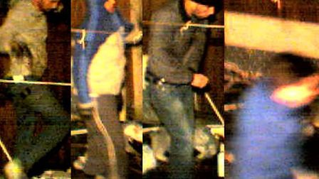 A house in Perth Road, Gants Hill, was burgled on Boxing Day evening. These men were caught on CCTV