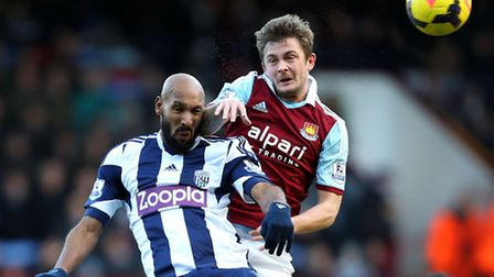 Makeshift centre half George McCartney gets the better of Nicolas Anelka during Saturdays 3-3 draw