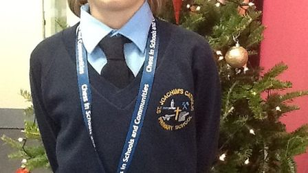 Oscar Dybowski, 10, from St Joachim's Catholic Primary School was among 30 Year 5 pupils from from t
