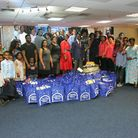 Embassy of Faith members with the donated food