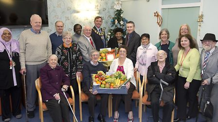 The Mayor of Newham and several of the borough's councillors delivered Christmas hampers