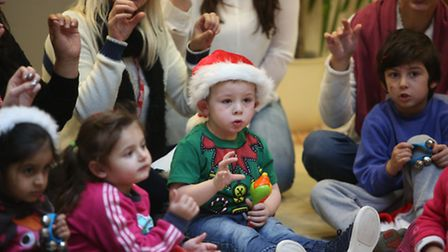 Nursery children visited Chadwell Heath Residential Care Home to sing Christmas Carols Stanley Nu