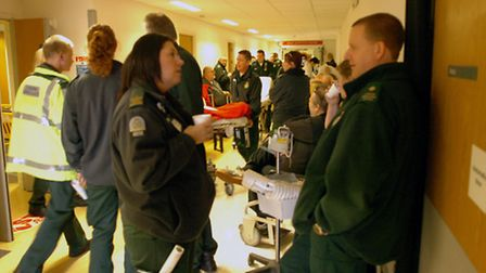 Ambulance queues at Queen's Hospital