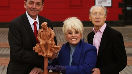 Mayor of Newham Sir Robin Wales with EastEnders actress Barbara Windsor MBE and actor Murray Melvin