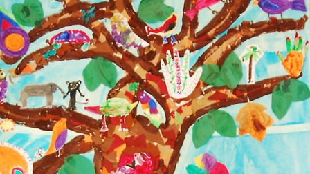Tree of Life, by youngsters at children's hospice