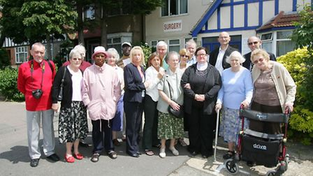 Patients and councillors protesting against the move in June 2013.