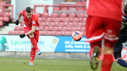 Dean Cox fires Orient into the third round. Pic by Simon O'Connor
