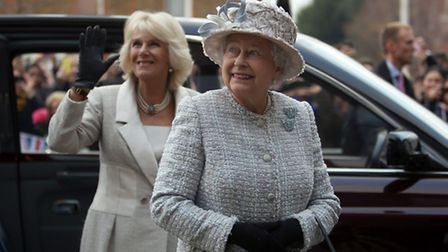 The Queen and The Duchess of Cornwall visited Barnardo's in Barkingside today.
