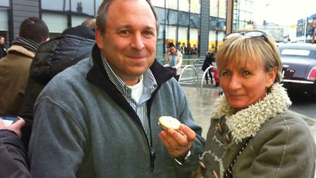 David Rimmer, who broke off a business trip from New York to come and see the Queen, and Kim Harvey.