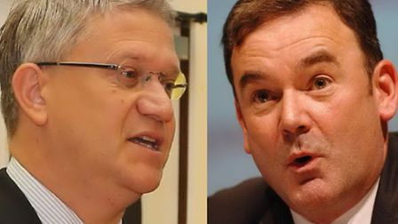 Havering's MPs divided: Andrew Rosindell (L, Tory) and Jon Cruddas (R, Labour) blamed each other's p