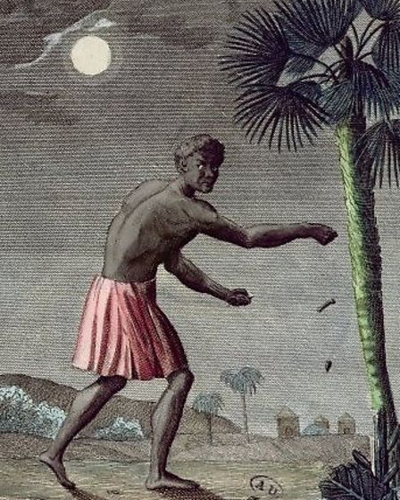 Gold Coast Negro throwing a curse in the path of his enemy. Picture: French School