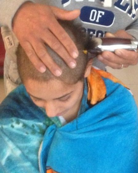 Meera Kavia bravely went through with the head shave.