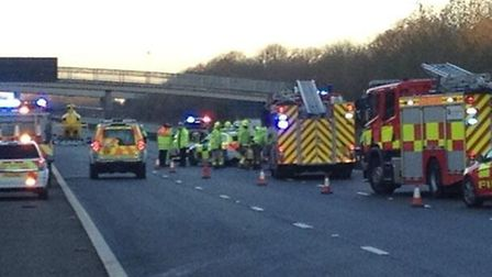 The accident happened on the M11 (Picture by Mark Harrison @marcusarabius)
