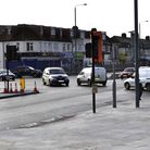 The junction as it should be used. Aldborough Road South (left) and Eastern Avenue (foreground). Pic
