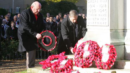 Both Ilford MPs - Mike Gapes (left) and Lee Scott - marked Remembrance Day in Redbridge in 2013