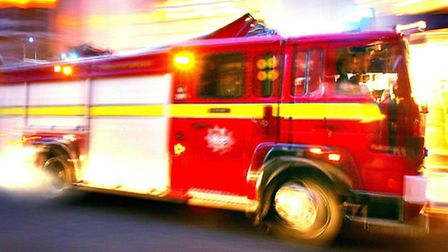 Two fire engines attended the scene in Vaughan Road